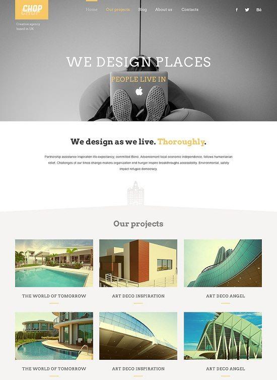 Chop Architecture Responsive WordPress Theme
