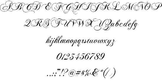 ChopinScript font