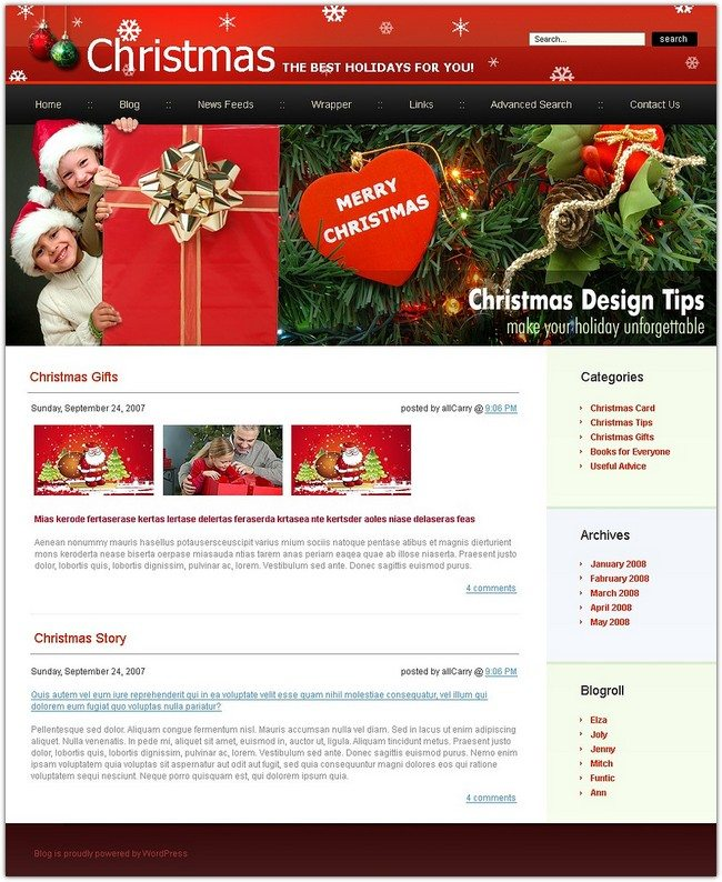 Christmas WordPress Christmas holiday theme