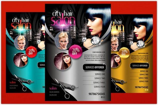 City Hair Salon Flyer