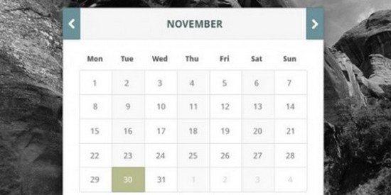 Clean Professional Calendar Widget PSD