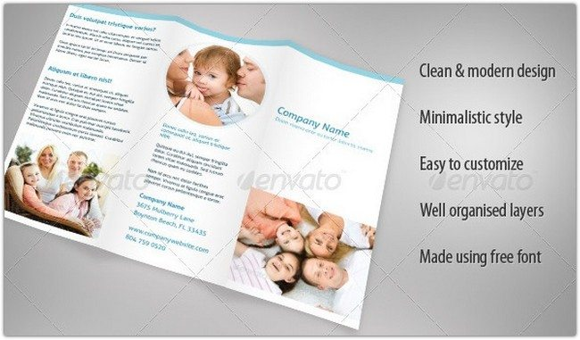 Clean & Professional Trifold Brochure
