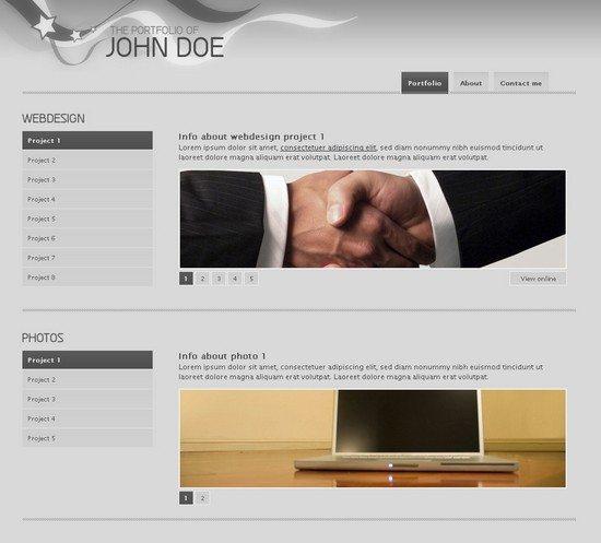 Clean jQuery Portfolio Template