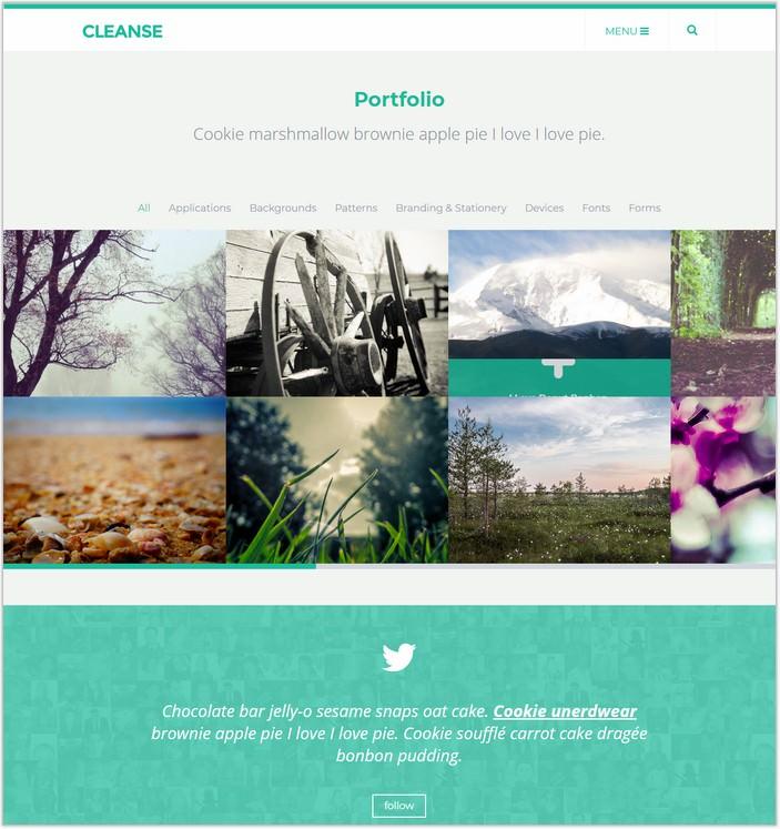 Cleanse - Minimal Portfolio HTML Template