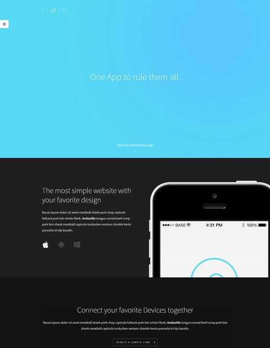 Cloud - An Easy To Use App Landing Page
