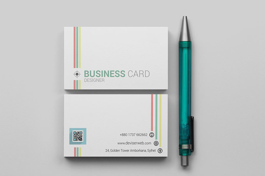 Colorful Line Business Card Template