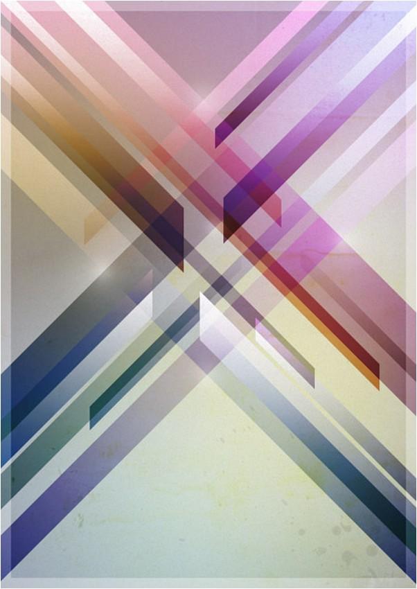 Colorful Retro Futuristic Poster in Photoshop