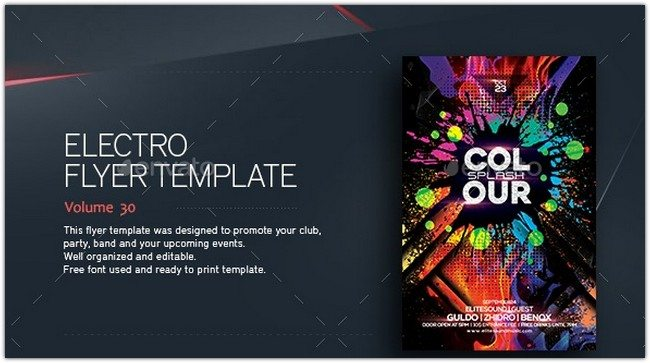 Colour Splash - Flyer Template