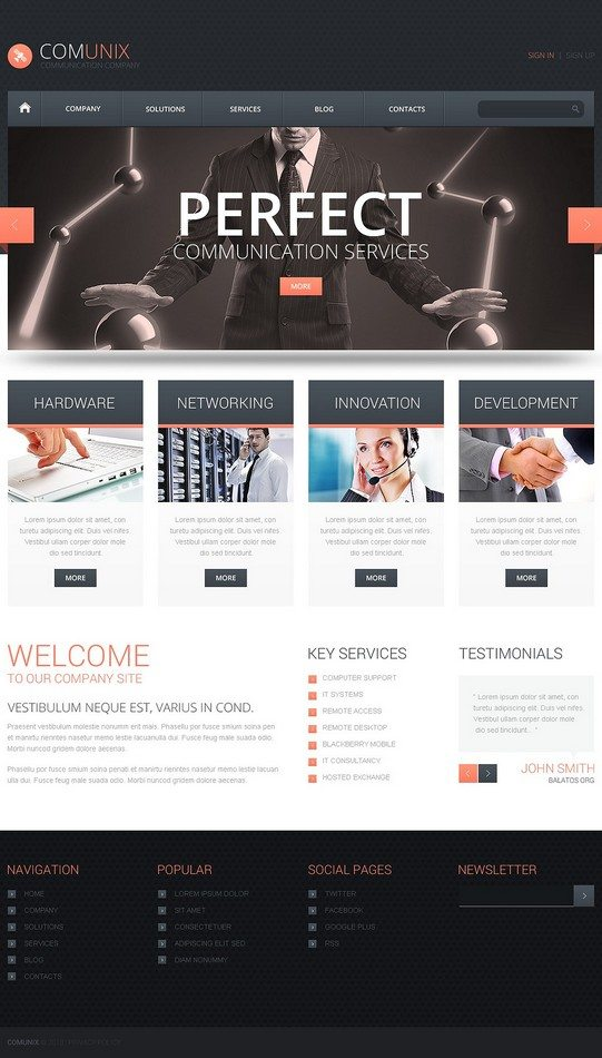 Communication Solutions WordPress Theme