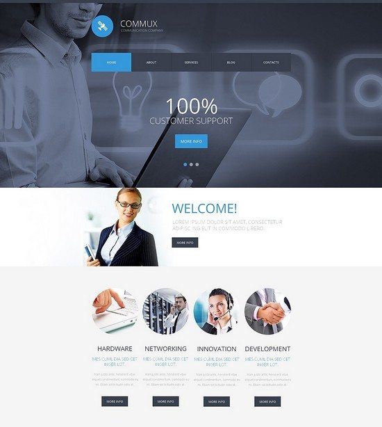 Commux Communications Responsive Website Template