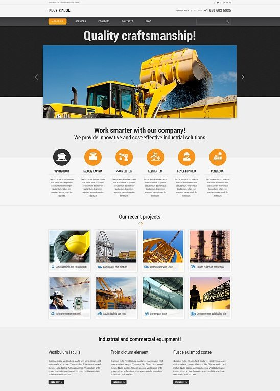 Compact Industrial WordPress Theme