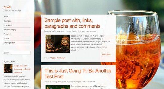 Confit Blogger Template