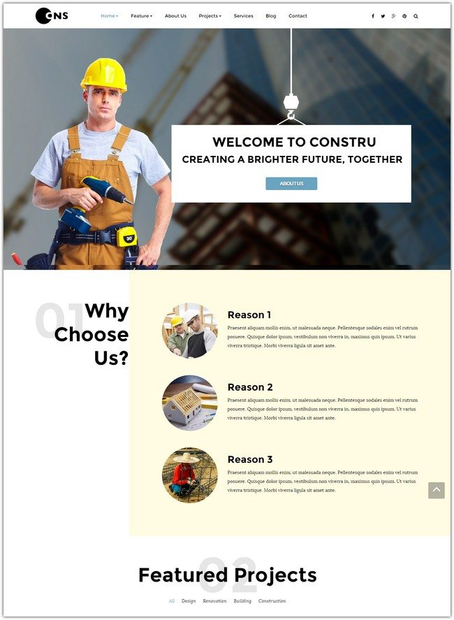 Constru - Construction Joomla Template
