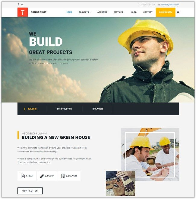 Construct Building and Construction Template