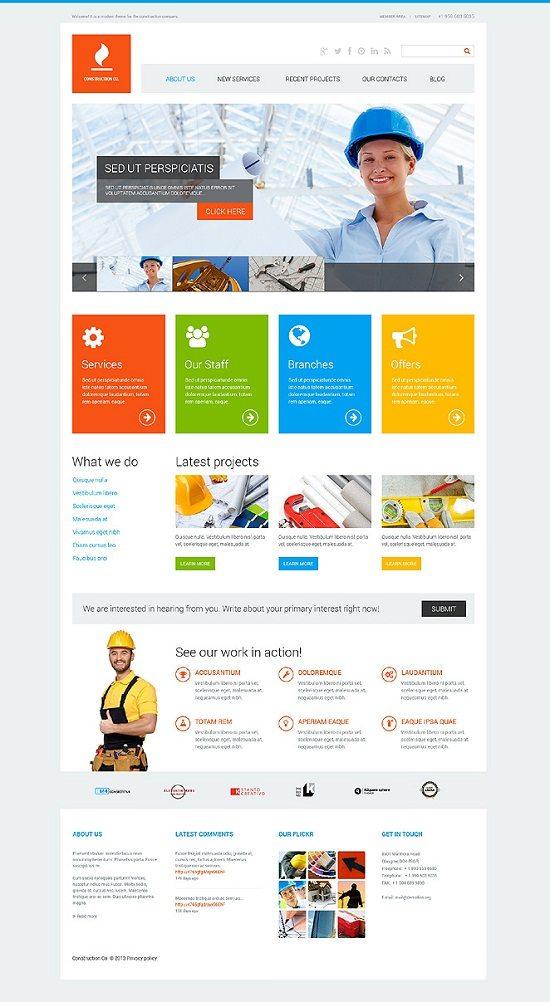 Construction Co WordPress Theme