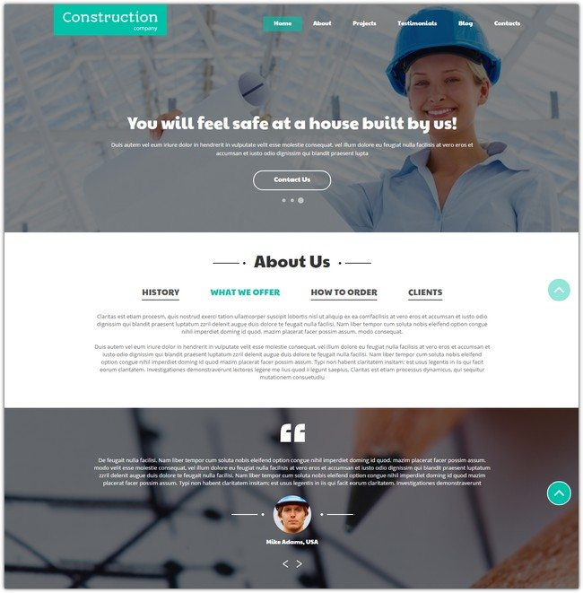 Construction Companies Joomla Template