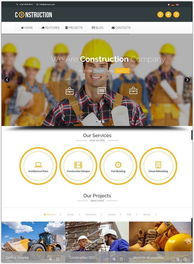 Construction - Industrial Joomla Template