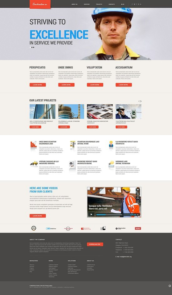 Construction Projects WordPress Theme