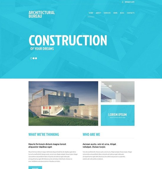 Construction of your Dreams Company Responsive WordPress Theme