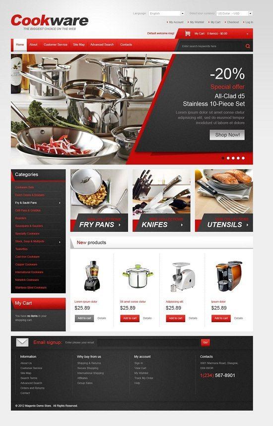 Cookware Magento Theme