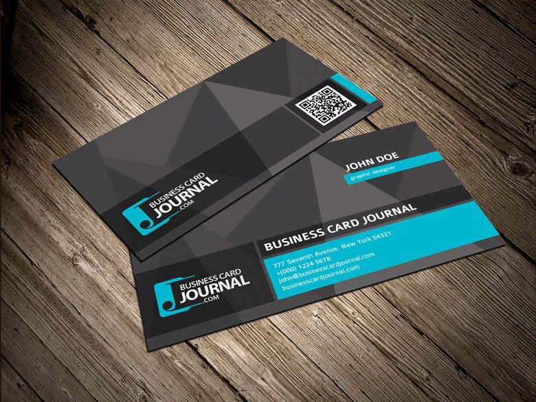 Cool & Unique Business Card Template with QR Code