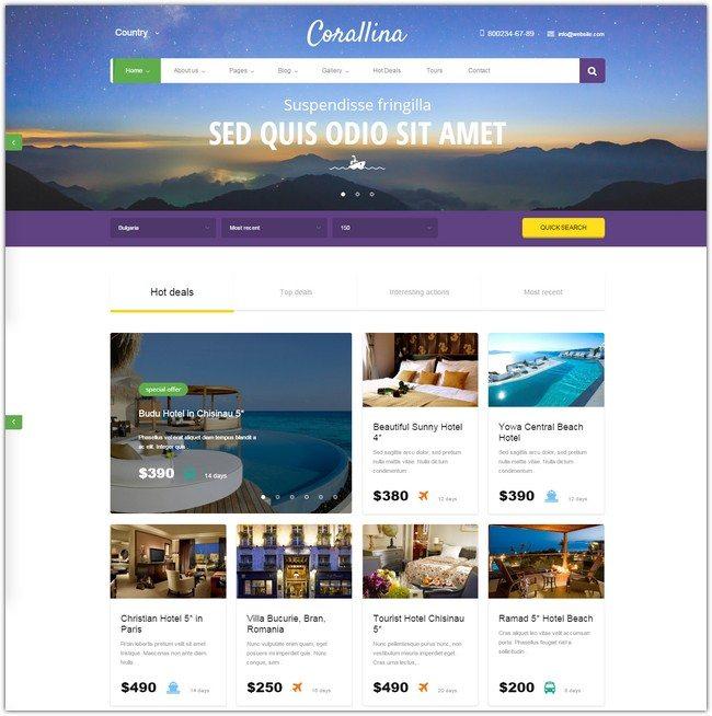 Corallina Booking WordPress Theme