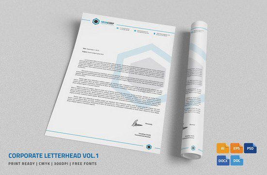 Corporate Letterhead 1 with MS Word