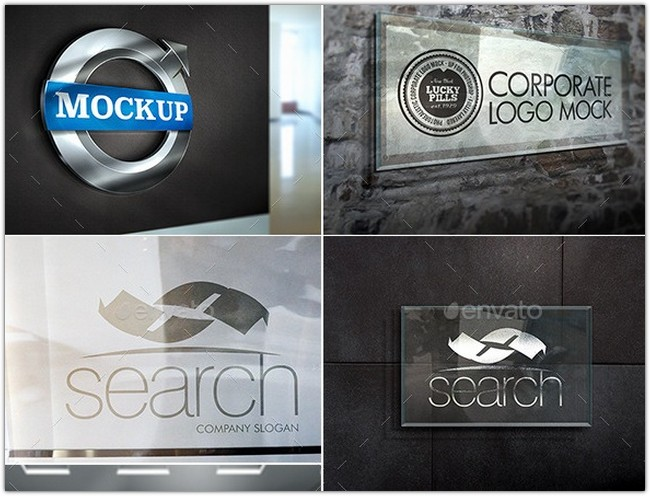 Corporate Logo Mockup Bundle