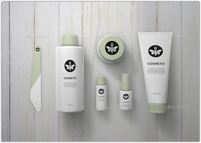 Cosmetics Mock-Up Toiletries & Make Up Mock-Up