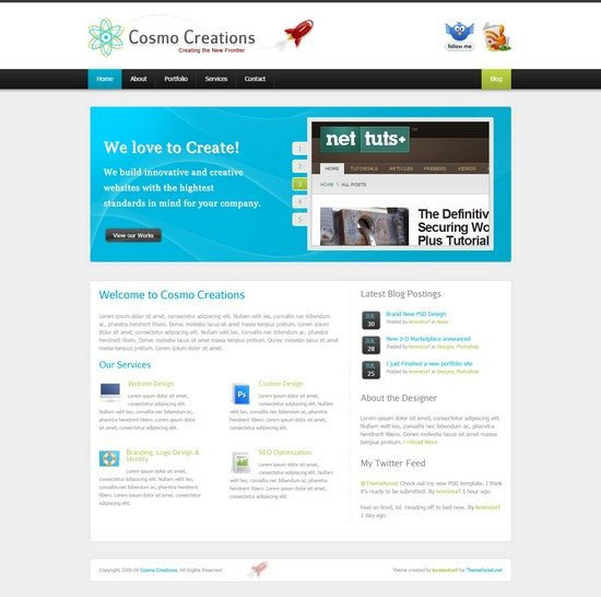 Cosmo Creations Modern Portfolio & Business