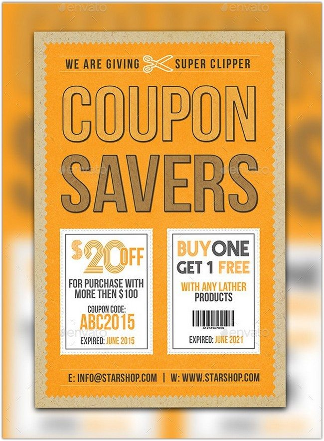 Coupon Flyer Postcard