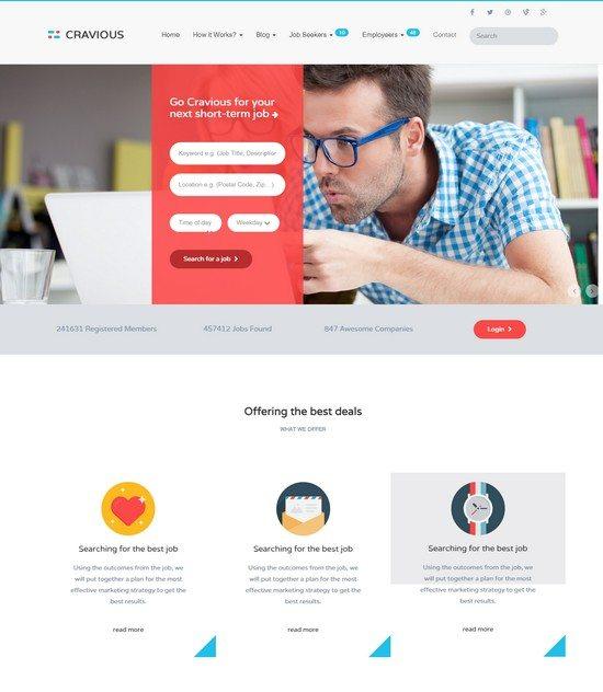 Cravious - Job Portal HTML5 Template