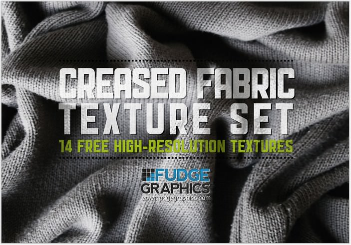 Creased Fabric Textures Set