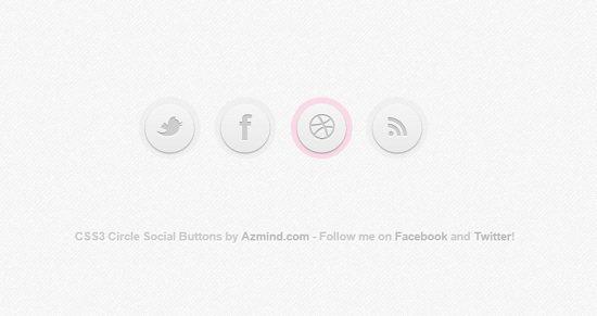Create a Circle Social Button in CSS3