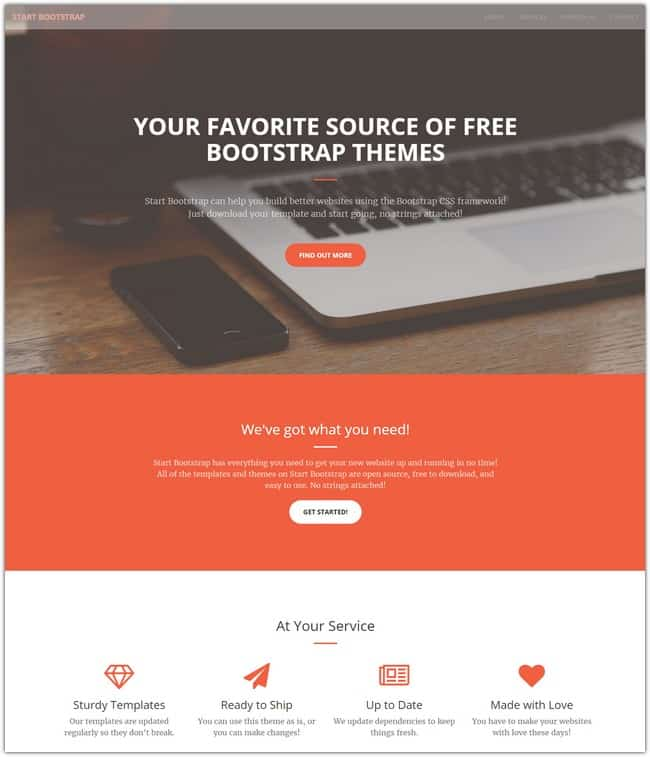 30+ Advanced Bootstrap HTML Website Templates 2018 - Templatefor
