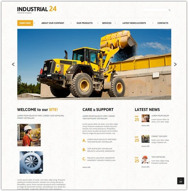 Creative Industrial Joomla Template