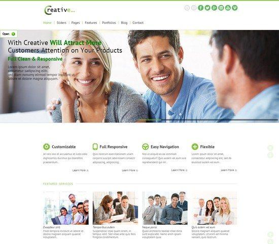 Creative Responsive HTML5 CSS3 Template