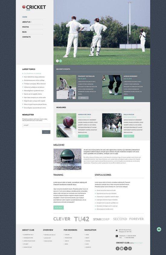 Cricket Responsive WordPress Theme