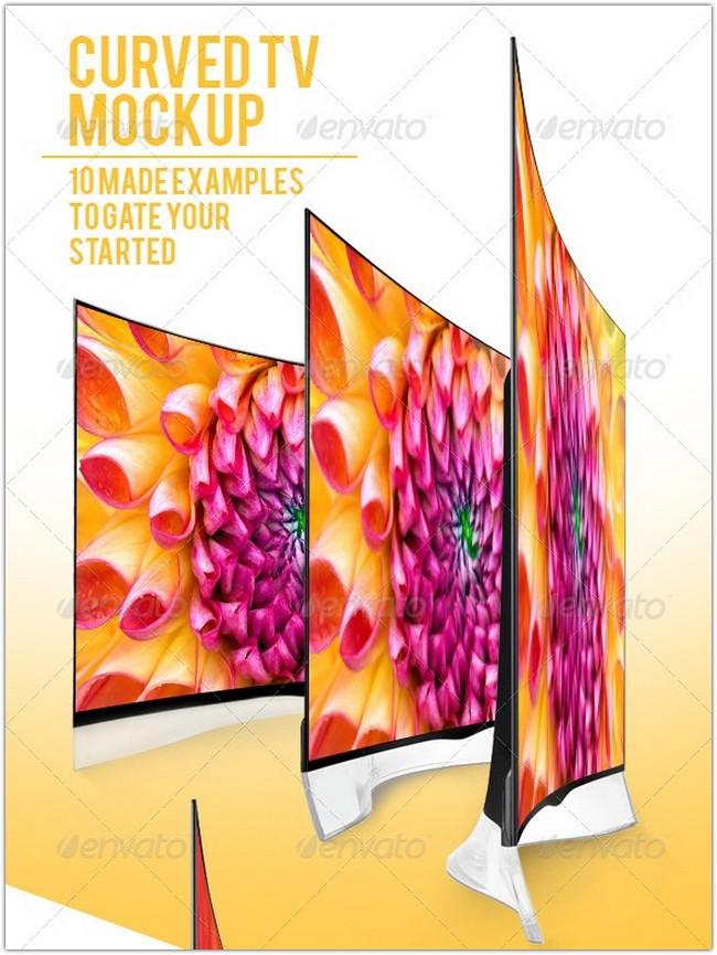 Curved TV Mockups Pack