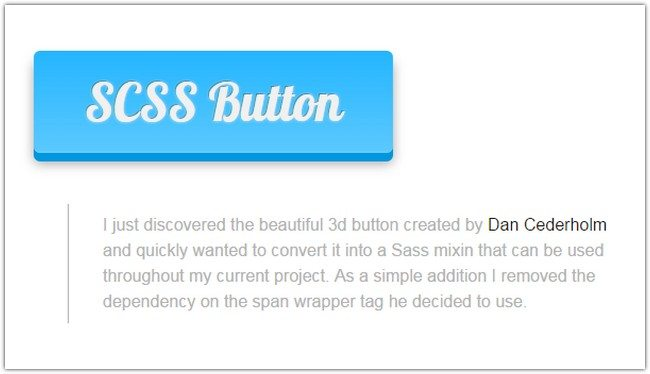 Customizable 3D Button using SASS