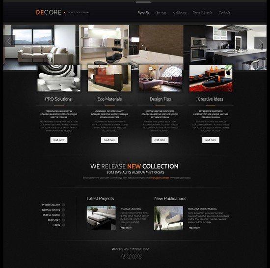 DECOREInterior Design Responsive Website Template