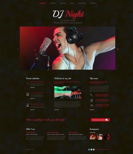 DJ-Superstar-Website-Template