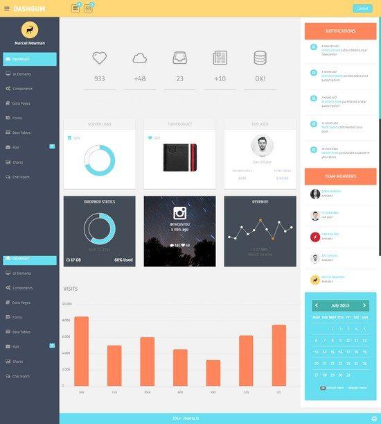 DashGum – Bootstrap Dashboard