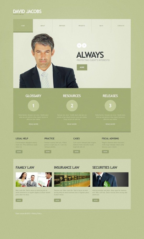 David Jacobs Lawyer WordPress Theme