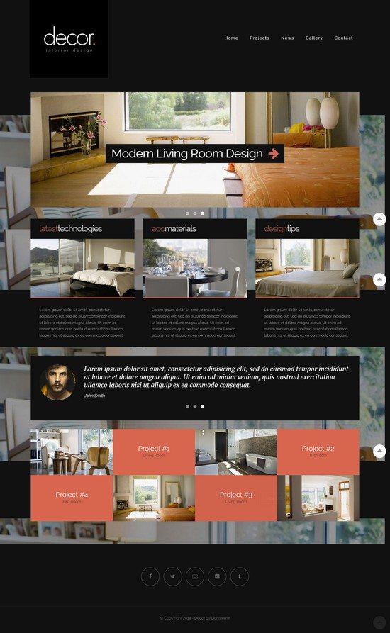 Decor – Responsive Interior Design Template