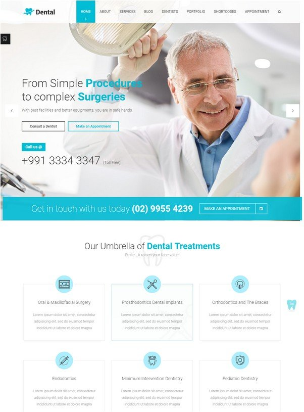 Dental Health - Dentist Medical WP theme