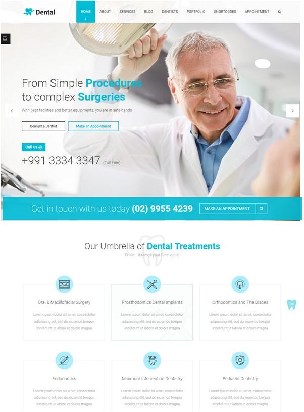 Dental Health - Dentist Medical WP theme