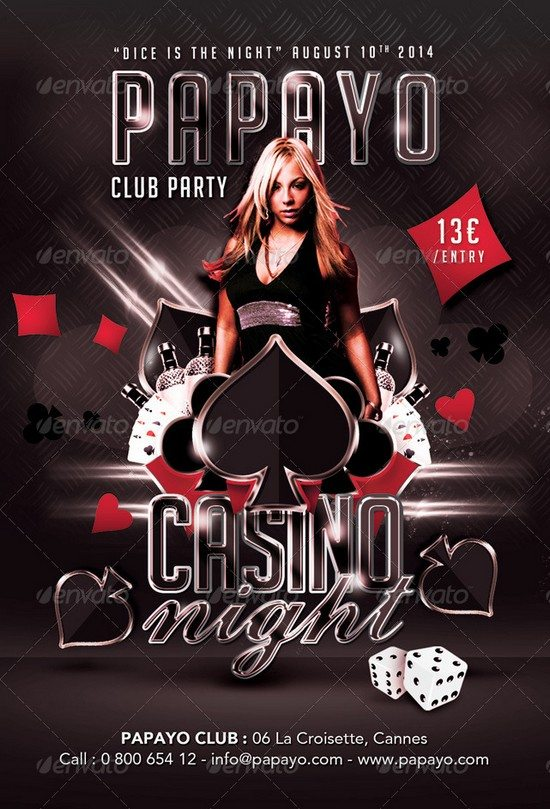 Dice Is Casino Night Club Party