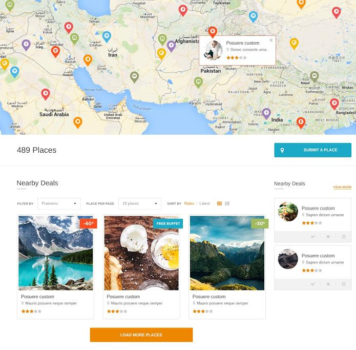 DiningEngine WordPress Listing Directory Theme
