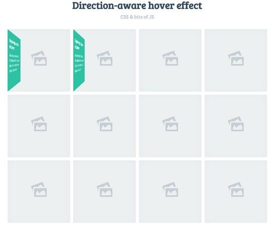 Direction-aware 3D hover effect (Concept)